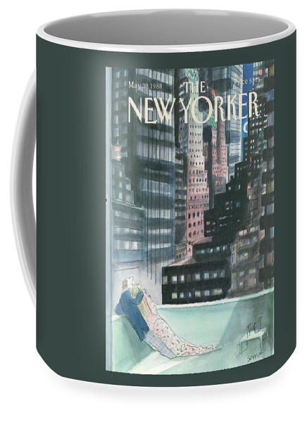 Married Coffee Mug featuring the painting The New Yorker Cover - May 30th, 1988 by Jean-Jacques Sempe