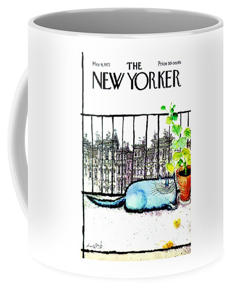 Animals Coffee Mug featuring the painting The New Yorker Cover - May 6th, 1972 by Ronald Searle