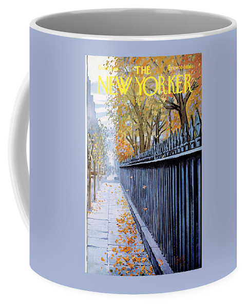 Season Coffee Mug featuring the painting Autumn In New York by Arthur Getz