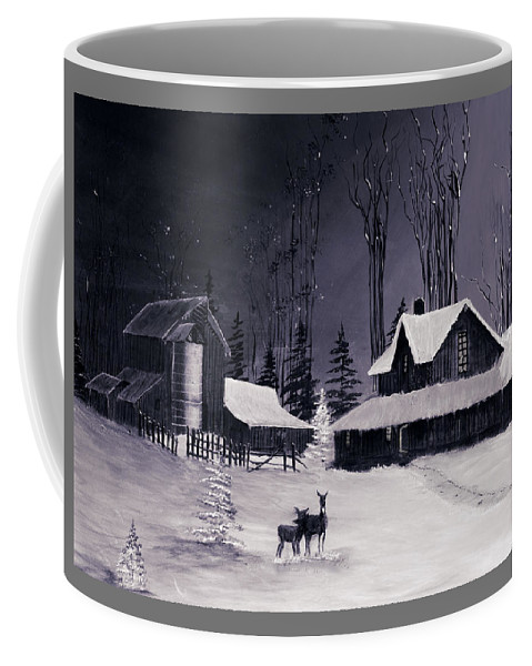 Christmas Coffee Mug featuring the photograph The Night Before Christmas Silvertoned by Diane Schuster