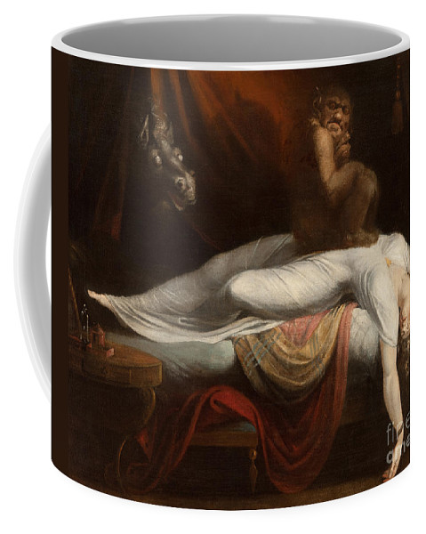 The Coffee Mug featuring the painting The Nightmare by Henry Fuseli