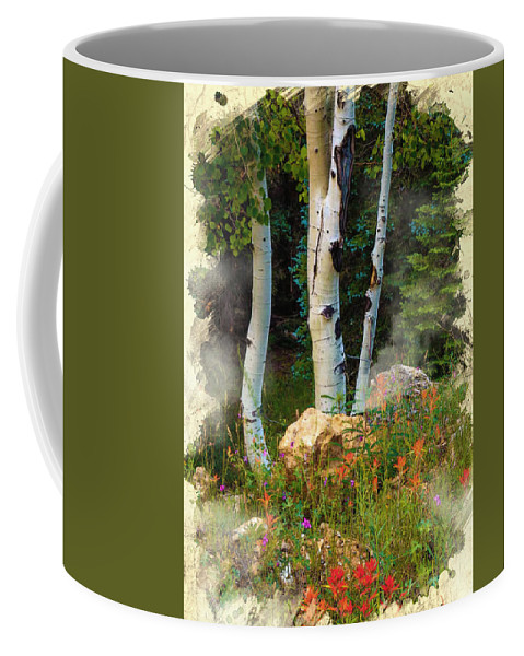 Decoration Coffee Mug featuring the digital art The North Rim Forest by Don Kuing
