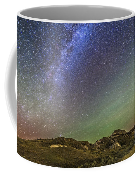 Alberta Coffee Mug featuring the photograph The Northern Autumn Stars by Alan Dyer