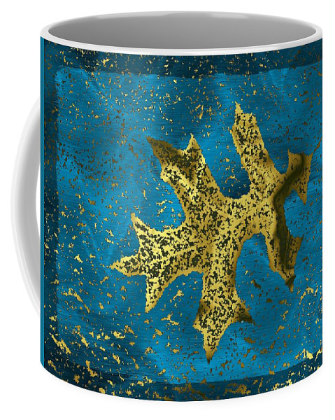 Oak Coffee Mug featuring the digital art The Oak Leaf And The Wind Storm by Tim Allen