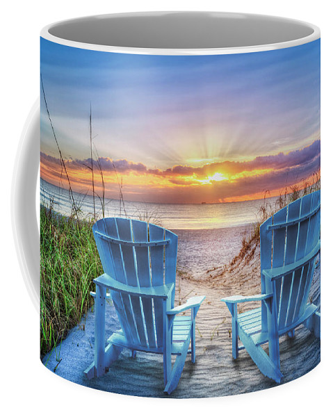 Clouds Coffee Mug featuring the photograph The Ocean Is Calling by Debra and Dave Vanderlaan