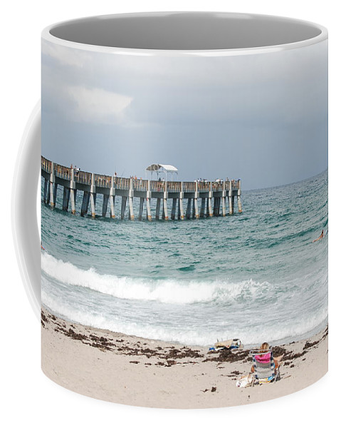Women Coffee Mug featuring the photograph The Ocean Pier by Rob Hans