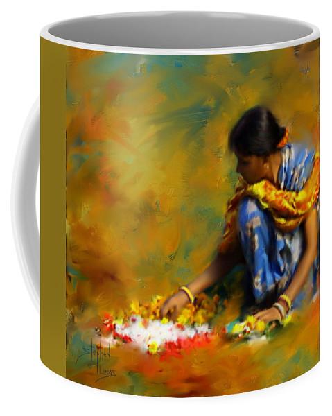 Spiritual Coffee Mug featuring the digital art The Offerings by Stephen Lucas