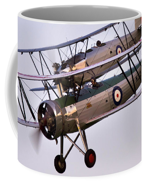 Old Aircraft Coffee Mug featuring the photograph The Old Aircraft by Angel Ciesniarska