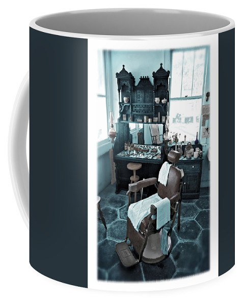 Barber Coffee Mug featuring the photograph The Old American Barbershop by Mal Bray