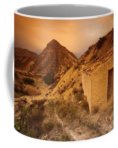 Hut Coffee Mug featuring the photograph The Old Barn by Angel Ciesniarska