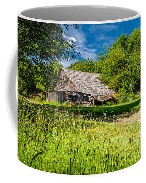 Barn Coffee Mug featuring the photograph The Old Barn by Scott Law
