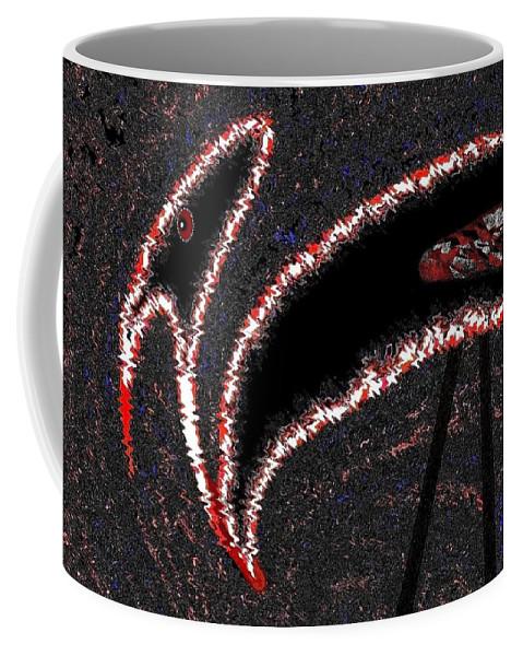 Buzzard Coffee Mug featuring the digital art The Old Buzzard by Will Borden