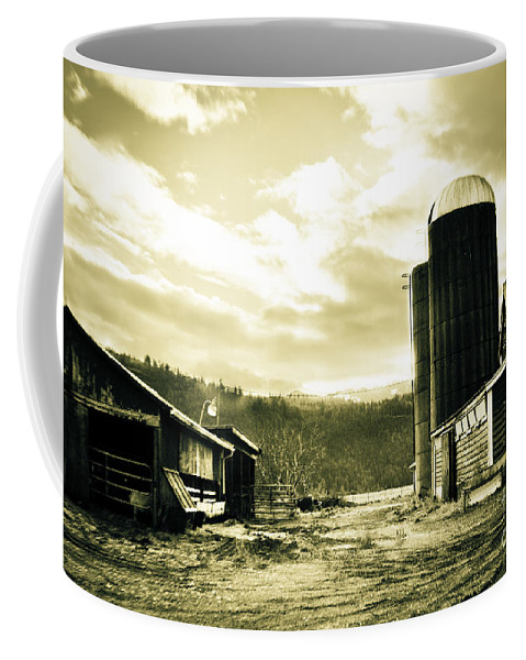Art Coffee Mug featuring the photograph The Old Farm by Clayton Bruster