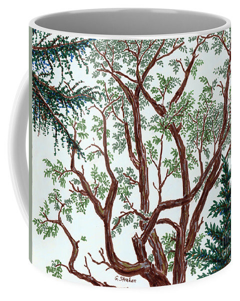 Trees Coffee Mug featuring the mixed media The Old Locust by Gary Strahan