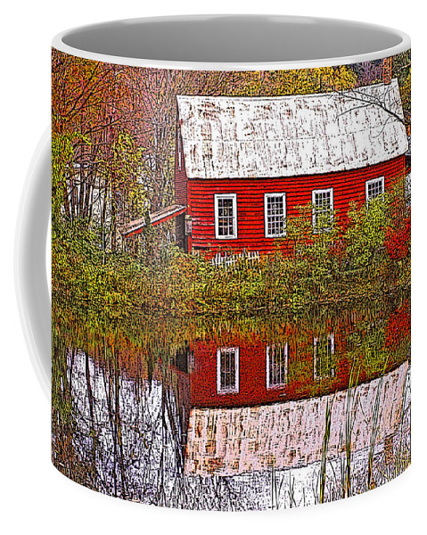 Landscape Coffee Mug featuring the photograph The Old Mill House by Nancy Griswold