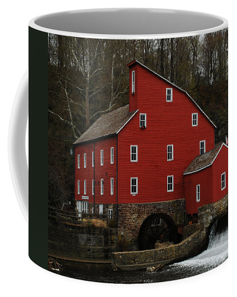 Water Mill Coffee Mug featuring the photograph The Old Mill In Clinton Nj by Lori Tambakis