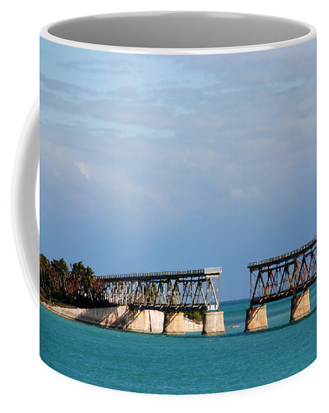 Flagler Coffee Mug featuring the photograph The Old Railroad To The Keys by Susanne Van Hulst