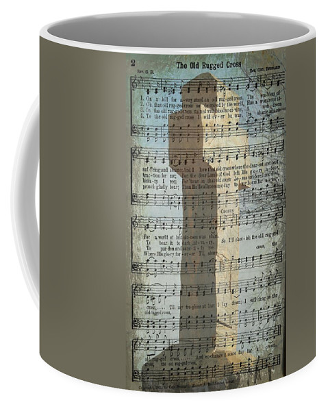 Hymn Coffee Mug featuring the photograph The Old Rugged Cross by Kim Blaylock