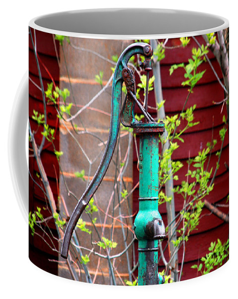 Photography Coffee Mug featuring the photograph The Old Rusty Water Pump by Susanne Van Hulst
