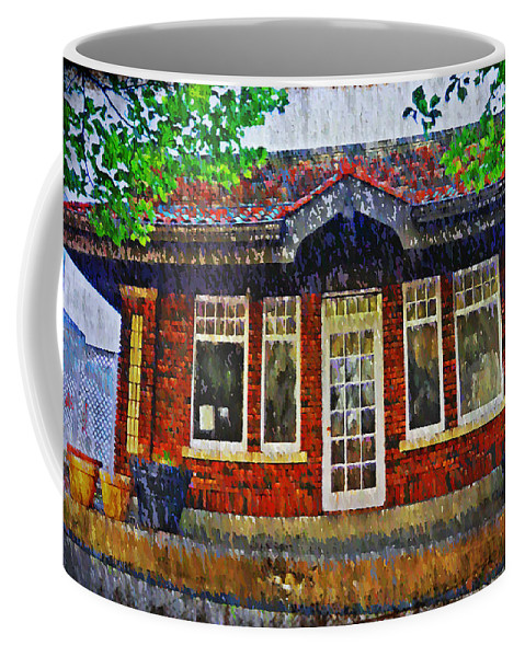 Old Coffee Mug featuring the photograph The Old Train Station by Bill Cannon