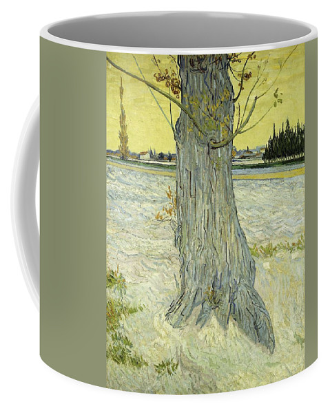 Nature Coffee Mug featuring the painting The Old Tree by Artistic Panda