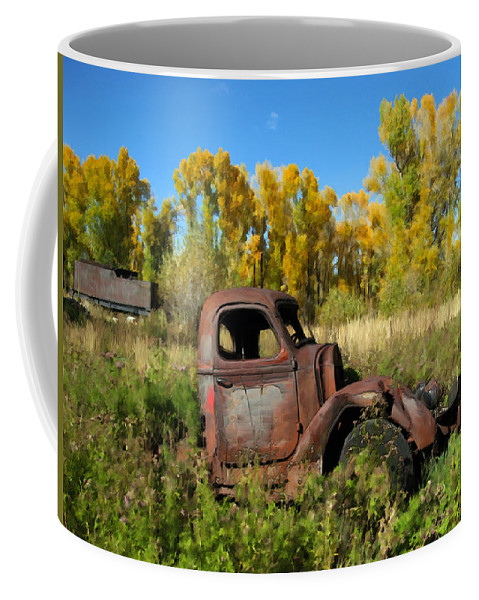 Truck Coffee Mug featuring the photograph The Old Truck Chama New Mexico by Kurt Van Wagner