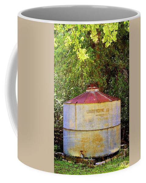 Old Coffee Mug featuring the photograph The Old Water Tank by Gary Richards