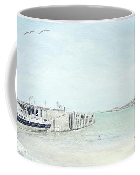 Ms Oldenburg Paintings Coffee Mug featuring the painting The Oldenburg At Ilfracombe Harbour by Mark Woollacott