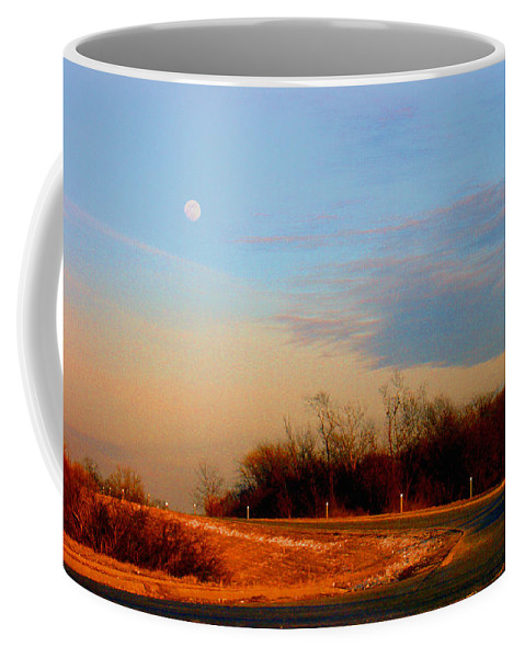 Landscape Coffee Mug featuring the photograph The On Ramp by Steve Karol