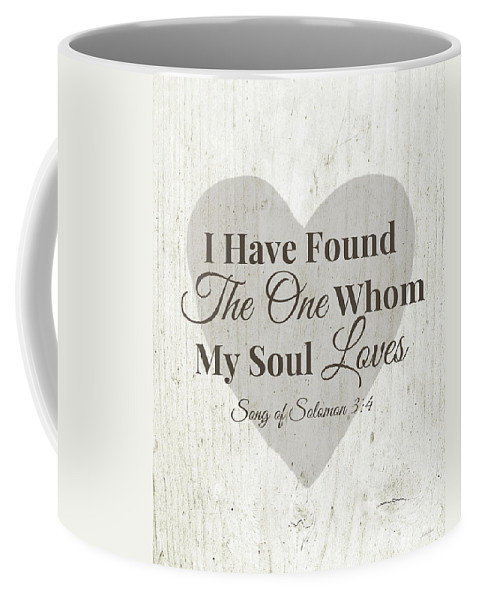 Scripture Coffee Mug featuring the digital art The One Whom My Sould Loves- Art by Linda Woods by Linda Woods