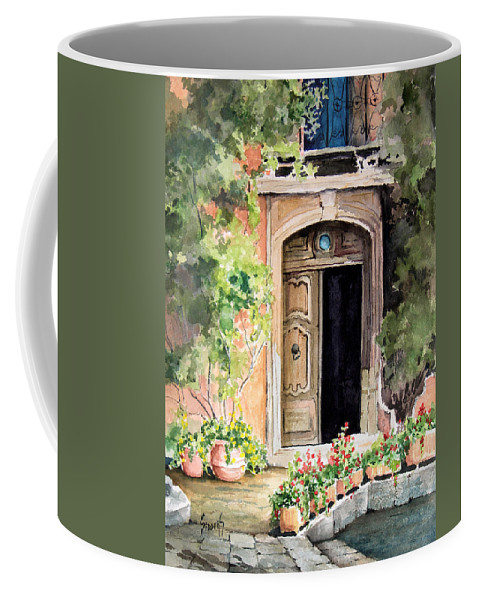 Door Coffee Mug featuring the painting The Open Door by Sam Sidders
