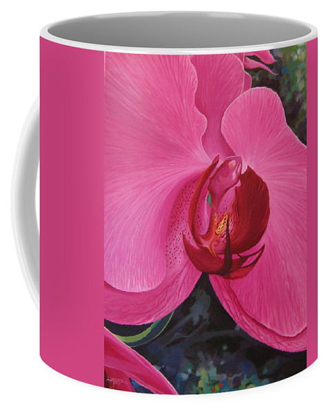 Orchid Coffee Mug featuring the painting The Orchid In San Juan by Hunter Jay