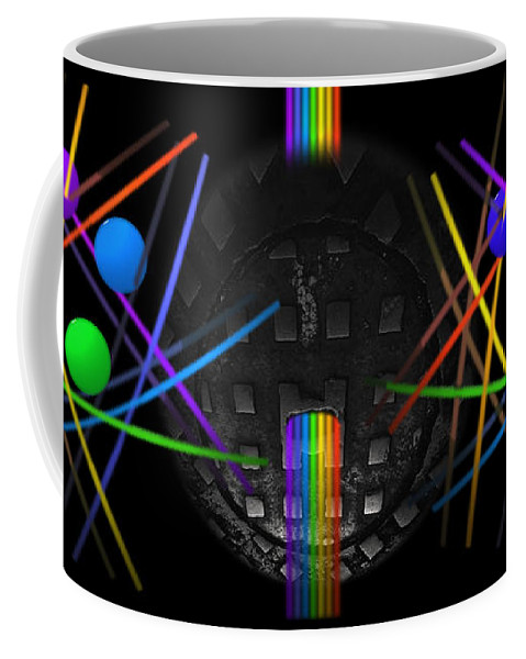 Black Coffee Mug featuring the painting The Origin Of Light by Charles Stuart