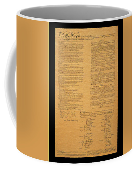 Photography Coffee Mug featuring the photograph The Original United States Constitution by Panoramic Images