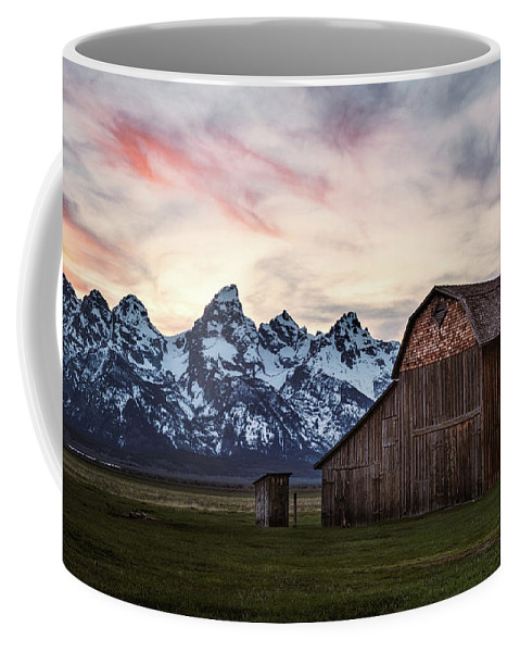 Clouds Coffee Mug featuring the photograph The Other Moulton Barn by Laura Roberts