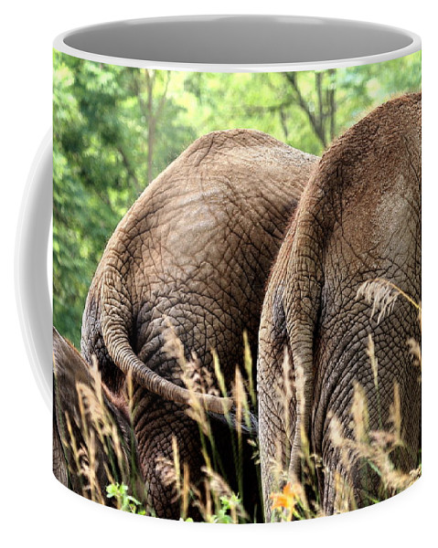 African Elephant Coffee Mug featuring the photograph The Other Side by Angela Rath