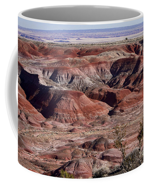 Arizona Coffee Mug featuring the photograph The Painted Desert 8062 by James BO Insogna