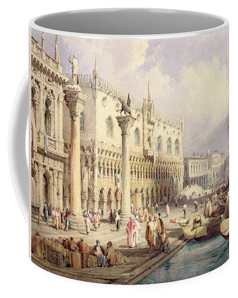 The Coffee Mug featuring the painting The Palaces Of Venice by Samuel Prout