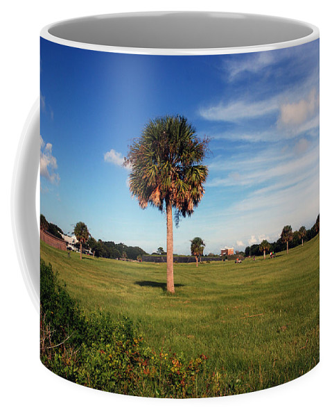 Photography Coffee Mug featuring the photograph The Palmetto Tree by Susanne Van Hulst