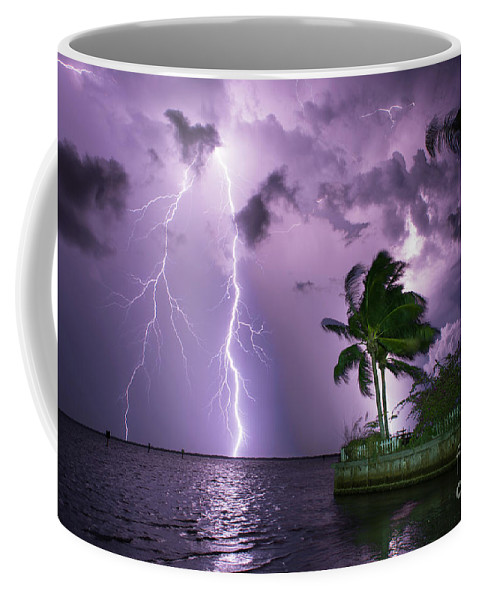 Lightning Coffee Mug featuring the photograph The Palms by Quinn Sedam