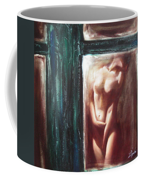 Ignatenko Coffee Mug featuring the painting The parallel world by Sergey Ignatenko