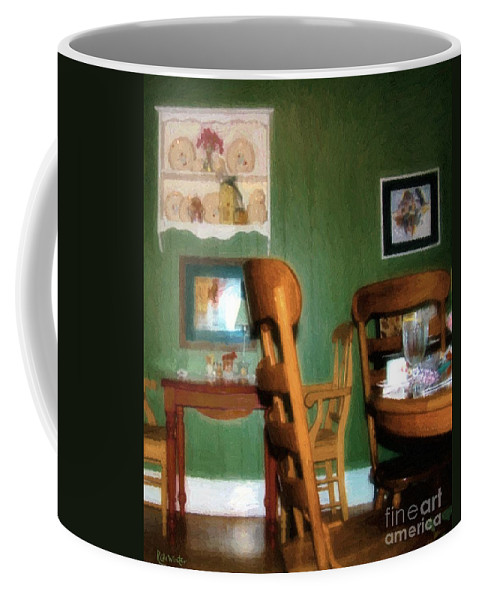 Chairs Coffee Mug featuring the painting The Party's Over by RC DeWinter