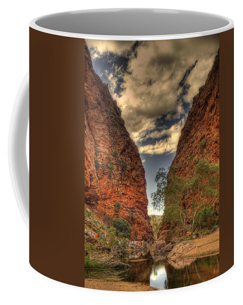 Mountain Coffee Mug featuring the photograph The Passage by Ajit Pillai