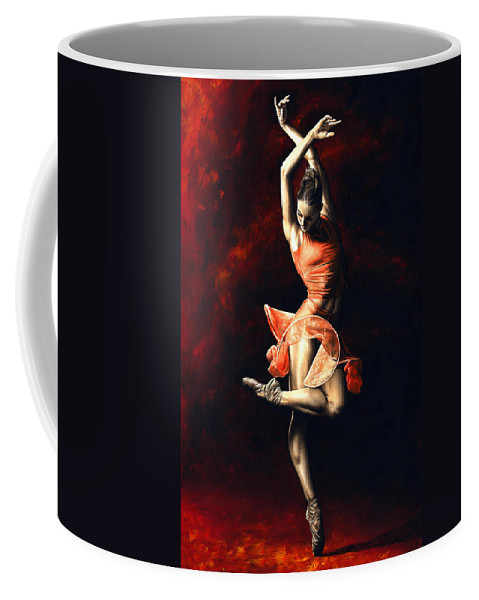 Dancer Coffee Mug featuring the painting The Passion of Dance by Richard Young
