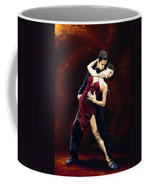 Tango Coffee Mug featuring the painting The Passion Of Tango by Richard Young
