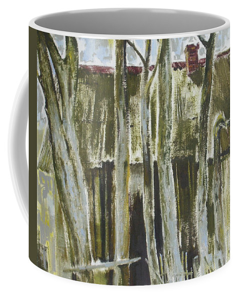 Oil Coffee Mug featuring the painting The Past Space by Sergey Ignatenko