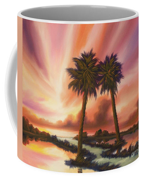 Skyscape Coffee Mug featuring the painting The Path Ahead by James Christopher Hill