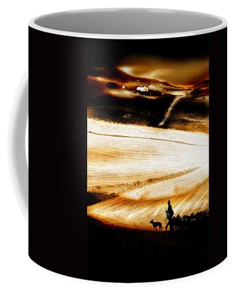 Landscape Coffee Mug featuring the photograph The Path Home by Mal Bray