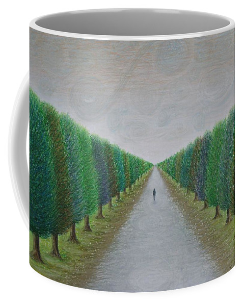 Path Coffee Mug featuring the painting The Path by Lynet McDonald
