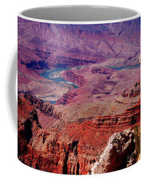 Grand Canyon Coffee Mug featuring the photograph The Path Of The Colorado River by Susanne Van Hulst